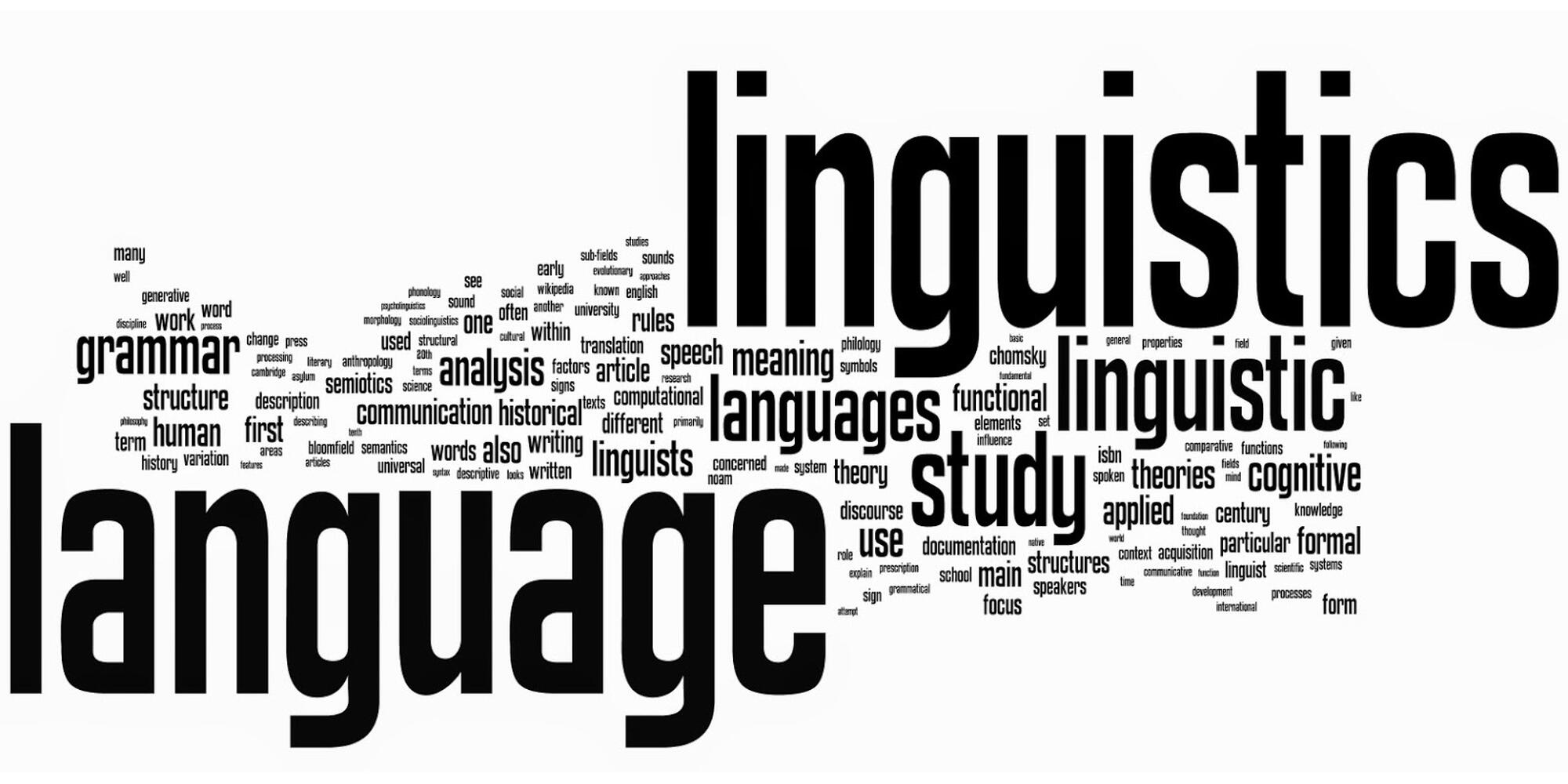 linguistic word cloud