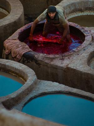 The tanneries of Fez - by John Rossi